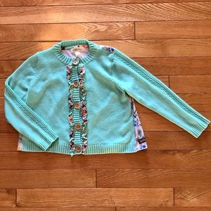 New Matilda Jane Friends Forever Pippa Lavender Cardigan Sweater Size 8 NWT